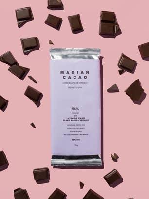 Magian Cacao 54% cacau ao leite de castanha-de-caju